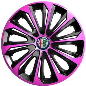 "Enjoliveurs pour ALFA ROMEO 15"", STRONG DUOCOLOR ROSES-NOIRS 4 pcs"