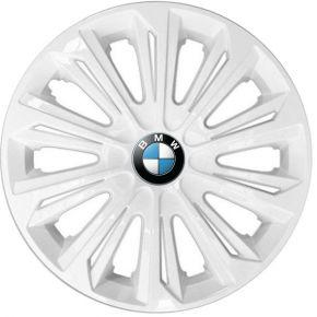 """Enjoliveurs pour BMW 15"""", STRONG BLANCS LAQUÉS 4 pcs"""
