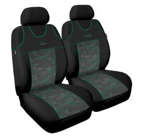T-shirts couvertures de siège de voiture Stylus,verte, avant 2pcs