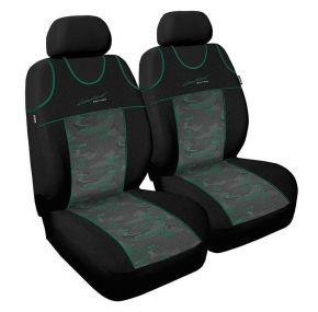 T-shirts couvertures de siège de voiture Limited,verte, avant 2pcs
